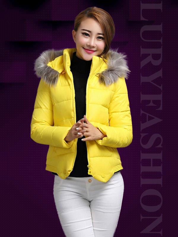 Áo phao nữ Hàn Quốc mũ lông thời trang TA108