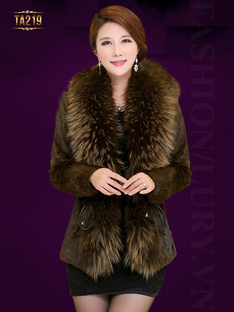 Áo khoác lông thỏ cao cấp TA219