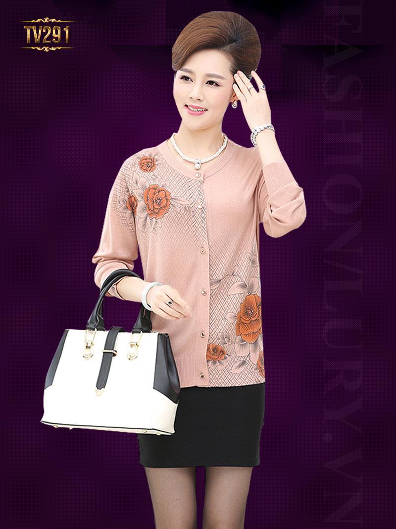 Áo len dáng suông trung niên thời trang TA291