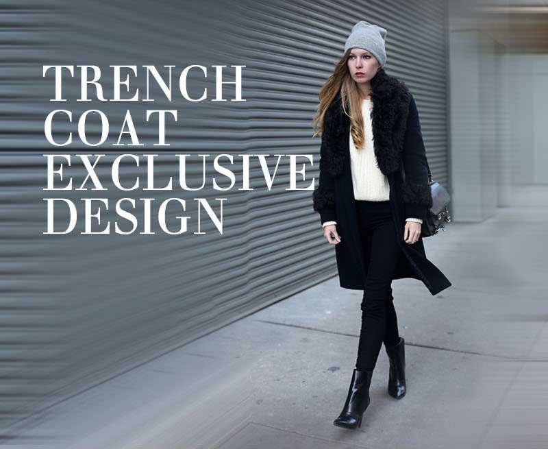 Áo khoác dạ nữ Trench Coat cho cô nàng có đôi chân dài