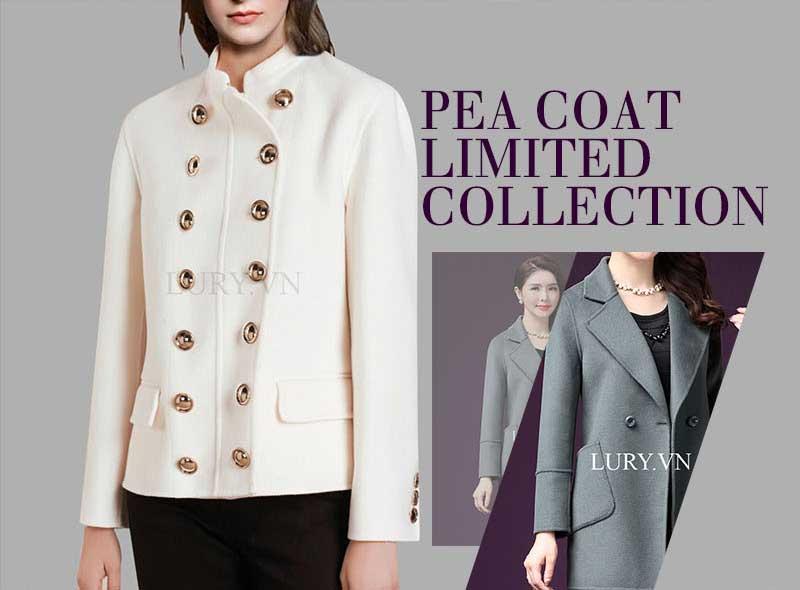 Áo khoác dạ nữ Pea Coat dành cho giới mộ điệu ưa thích sự tối giản