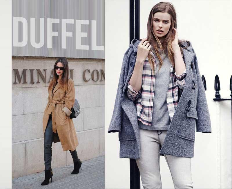 Áo khoác dạ nữ Duffel của tín đồ ưa thích phong cách áo khoác quý tộc