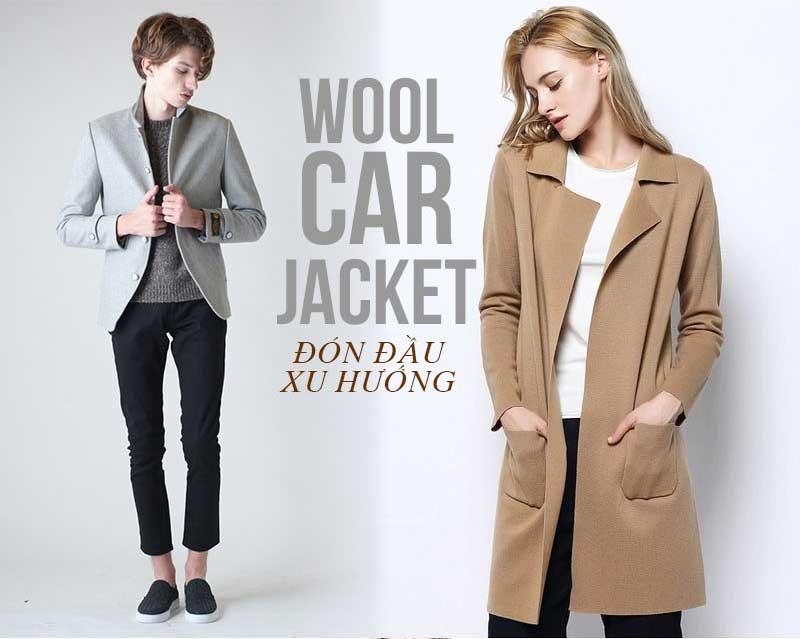 Áo khoác dạ nữ Wool car Jacket cho cô nàng hàng hiệu sành điệu