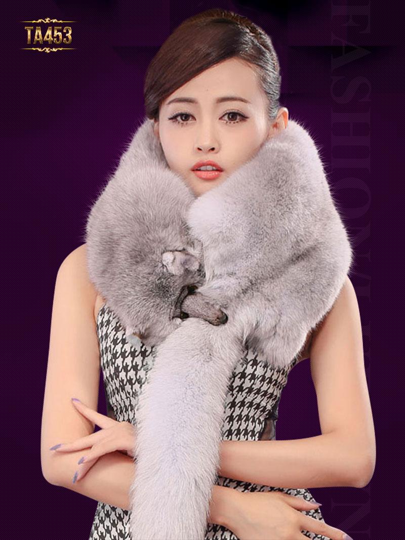 Khăn choàng lông chồn nguyên con cao cấp TA453
