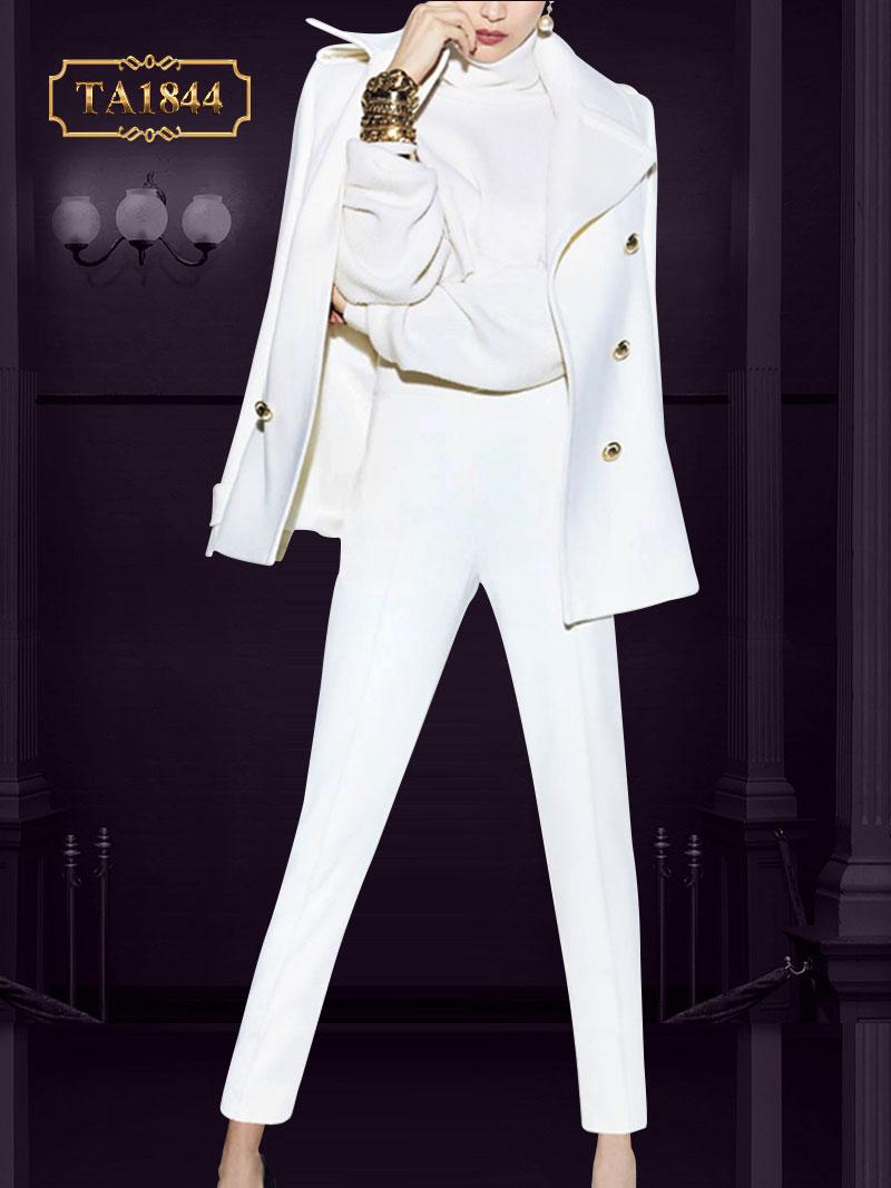 Set bộ vest trắng phong cách công sở lịch lãm TA1844