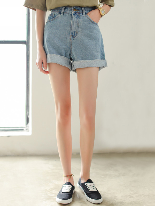 Quần short jean xắn gấu thời trang TQ1162