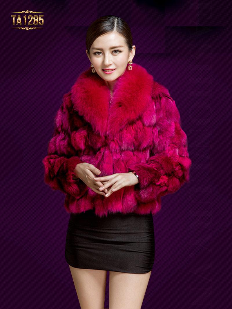 Áo lông chồn Hàn Quốc cao cấp dáng ngắn trẻ trung, năng động TA1285