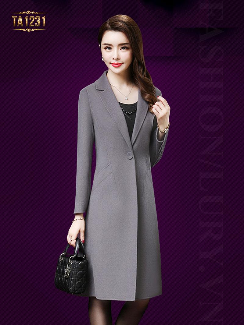 Dáng áo thời thượng thiết kế cổ vest sang trọng khiến quý cô mê mẩn TA1231