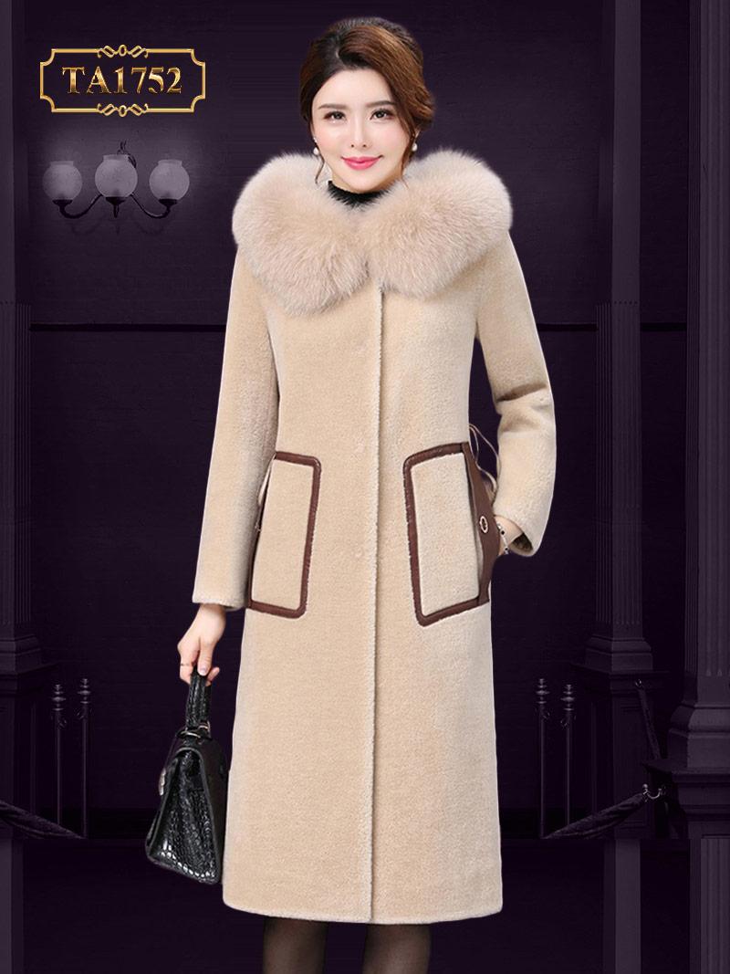 Áo khoác dạ cổ lông cao cấp TA1752  thời trang mới nhất 2019
