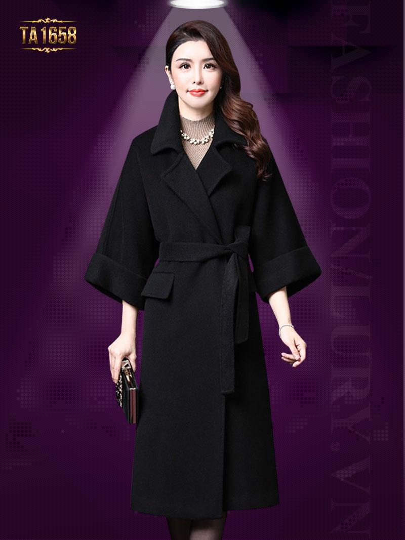 Áo khoác dạ lông cừu TA1658 mẫu mới 2017 thời trang cao cấp