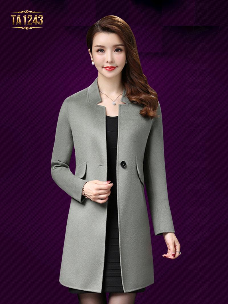 Áo khoác dạ Hàn Quốc 1 cúc túi chéo cao cấp sang trọng và vô cùng đẳng cấp TA1243; Giá: 9.576.000 VNĐ