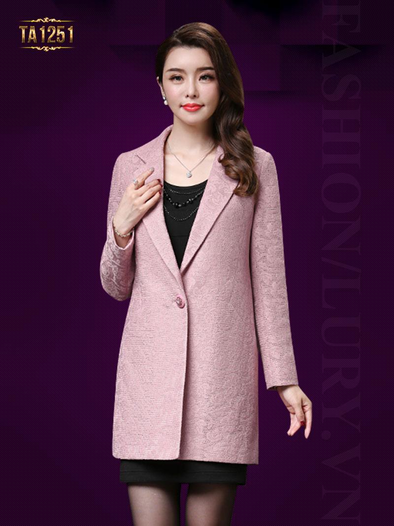 Áo khoác dạ nữ cổ vest cao cấp