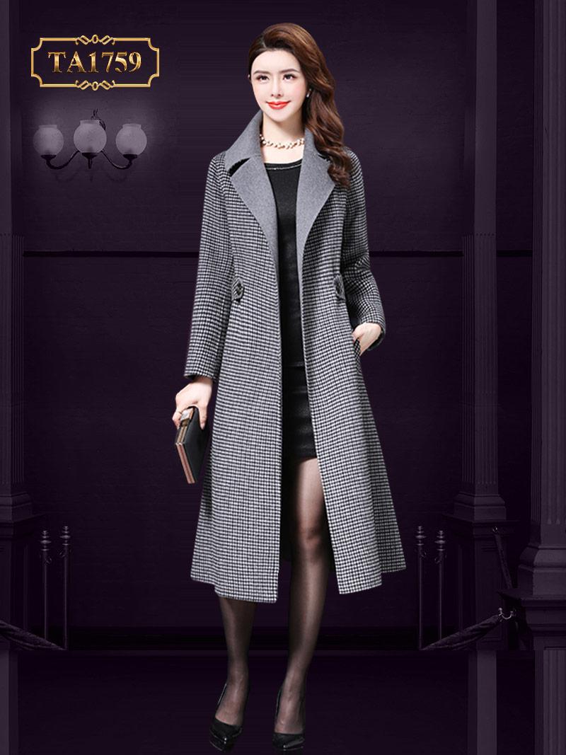 Áo khoác dạ cao cấp TA1759 kẻ thời trang mẫu giới hạn mới nhất 2019