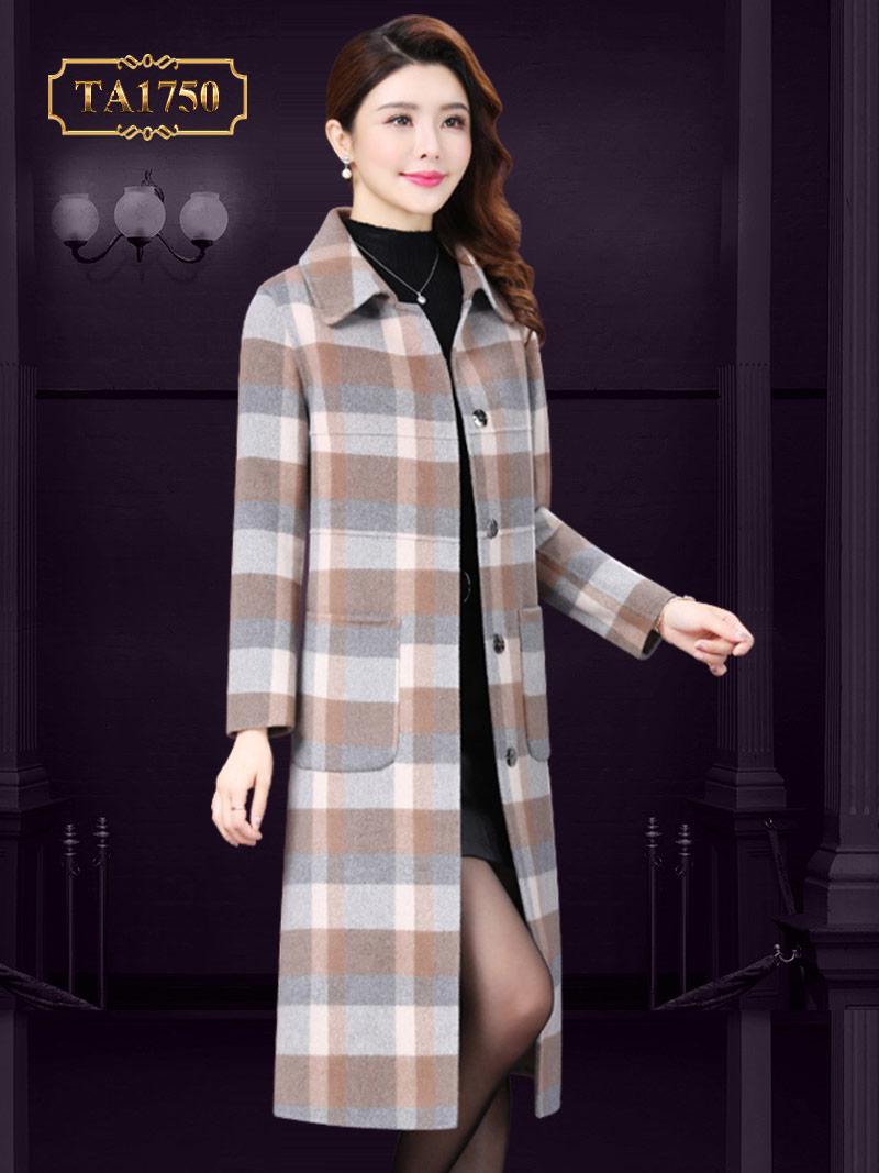 Áo dạ nữ kẻ caro TA1750 cao cấp thiết kế thời trang mới nhất 2019