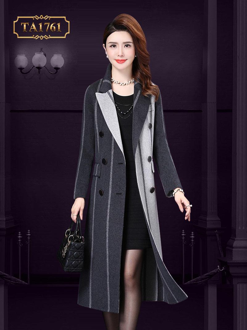 Áo khoác dạ nữ dài  TA1761 cao cấp 2 màu mẫu mới nhất 2019