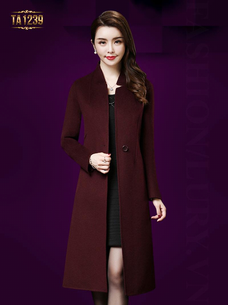 Tuyển tập áo khoác dạ cho phụ nữ trung niên đẹp