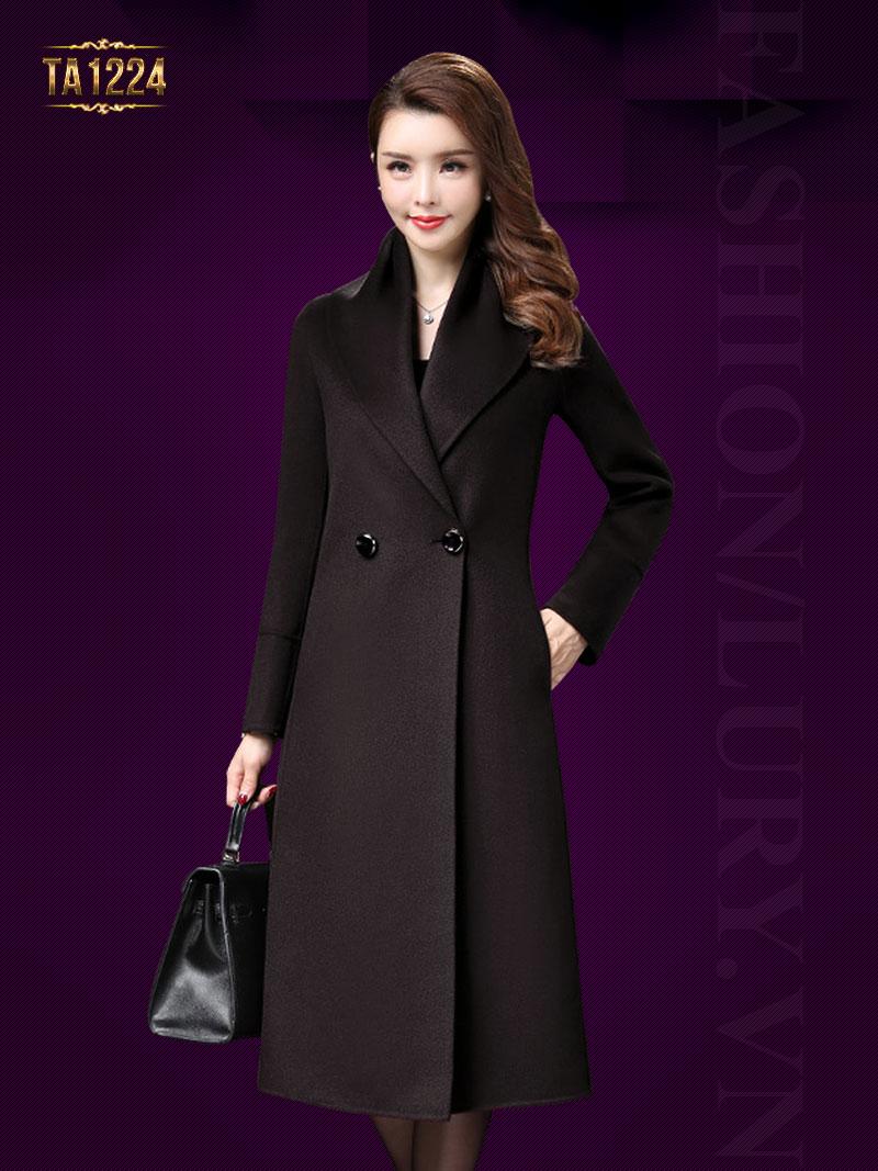Áo khoác dạ nữ dáng dài phong cách hàn quốc