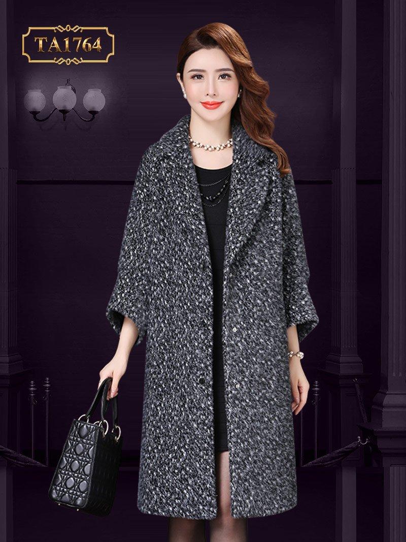 Áo khoác dạ len lông cừu TA1764 thượng hạng dáng oversize mới nhất 2019