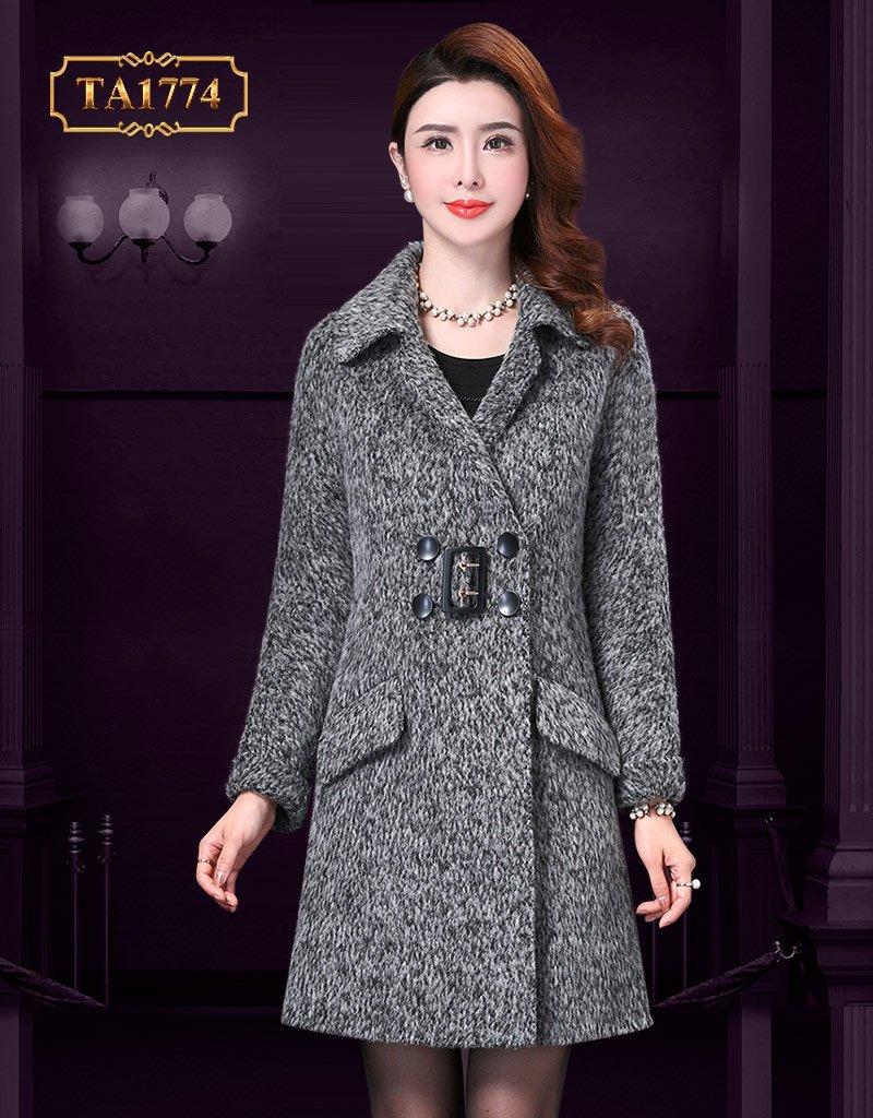 Áo khoác dạ lửng TA1774 cao cấp túi nắp chéo thời trang mới 2019