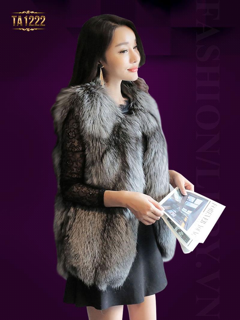 Mẫu áo khoác lông thú thời trang, sang chảnh