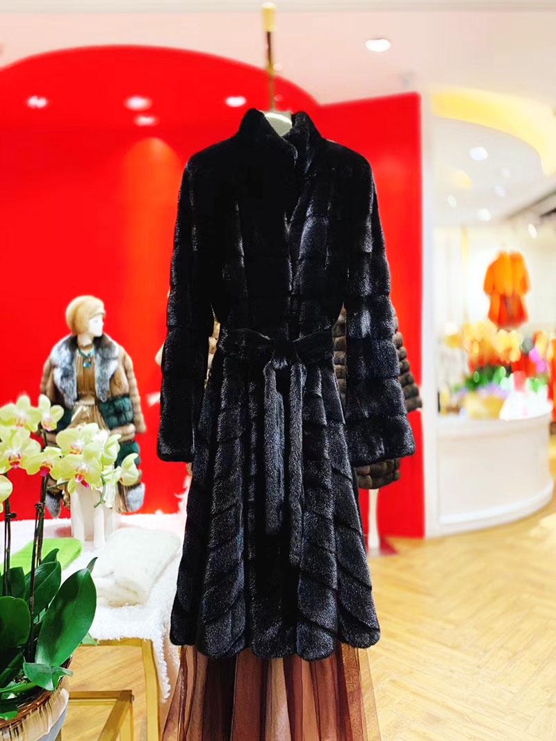 Áo khoác lông cao cấp dáng dài thiết kế mới nhất 2020 A15