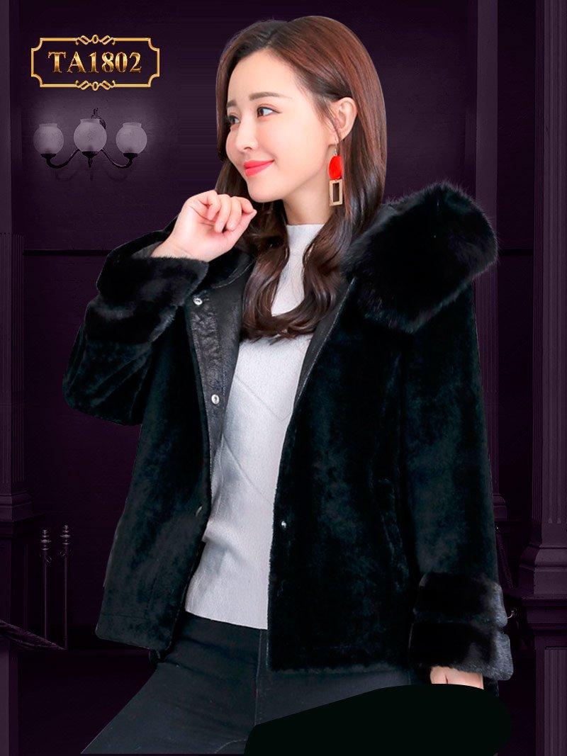 Áo khoác lông dáng ngắn thời trang mẫu mới 2019 TA1802