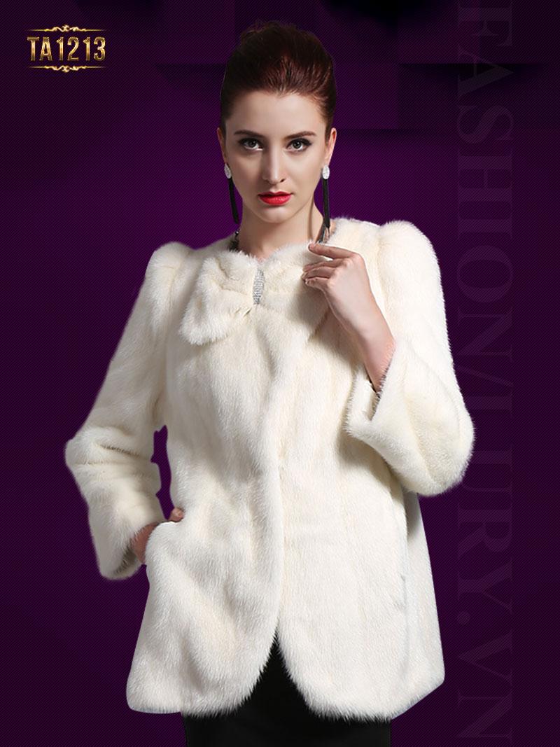 Nếu muốn mua áo khoác lông chồn cao cấp hãy đến ngay với Lury TA1213