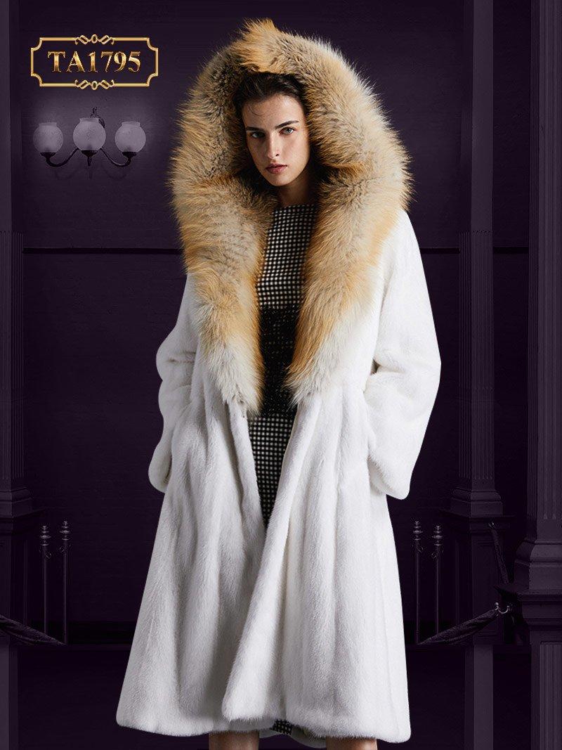 [NEW 2020] Áo khoác lông thú tự nhiên TA1795 thiết kế độc quyền mẫu mới
