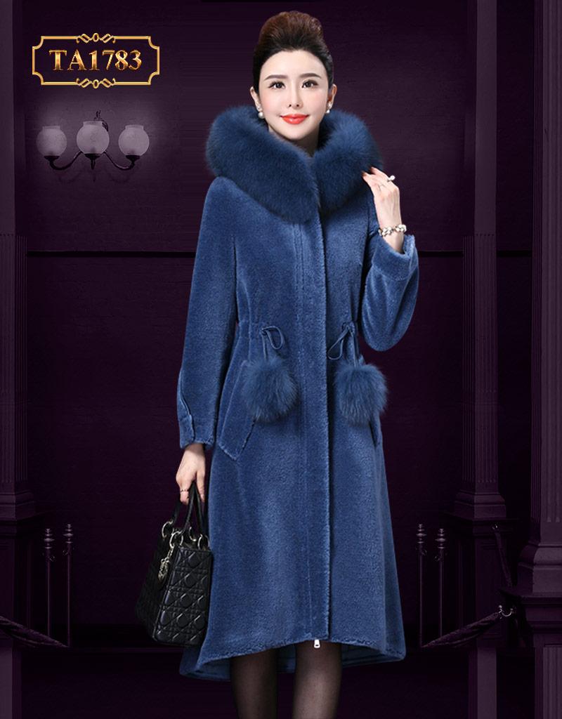 Áo khoác lông cho nữ  TA1783 dây rút eo thời trang mẫu độc quyền mới 2019