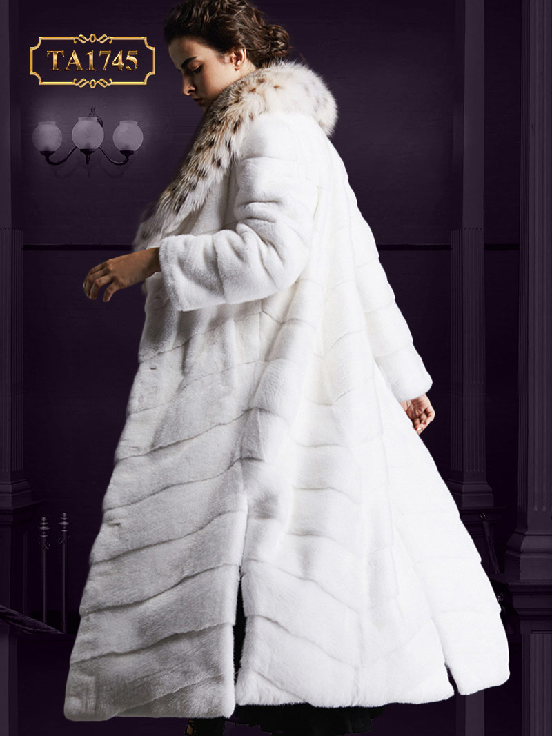 Áo khoác lông thú nữ  TA1745 tự nhiên cao cấp mẫu mới 2019