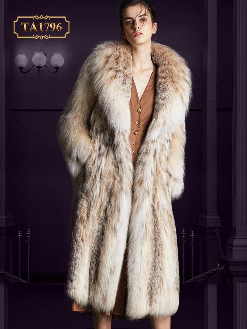 Áo lông thú cho nữ TA1796 tự nhiên họa tiết mẫu mới 2019