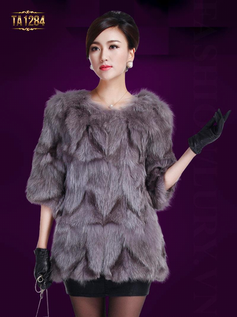 Áo lông chồn Hàn Quốc tay lửng nhập khẩu cao cấp