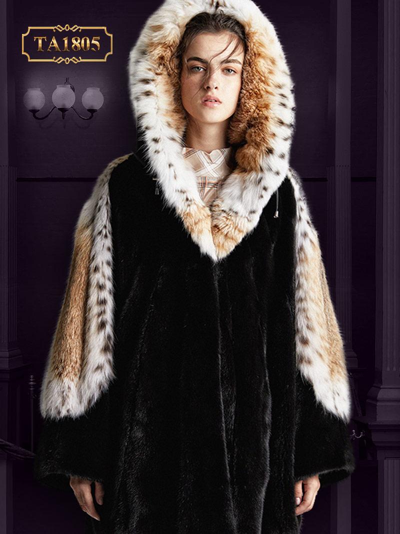 Áo khoác lông Bắc Mỹ TA1805 100% tự nhiên thiết kế độc quyền