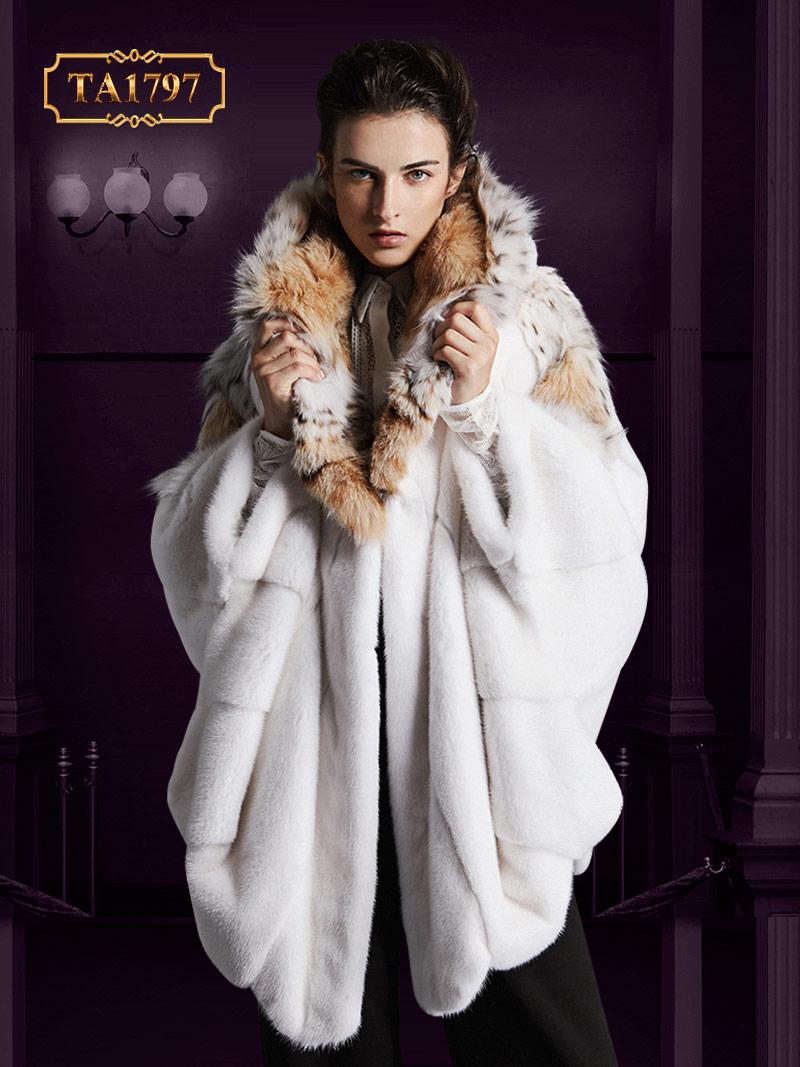 Áo khoác lông tự nhiên TA1797  thiết kế độc quyền mẫu mới