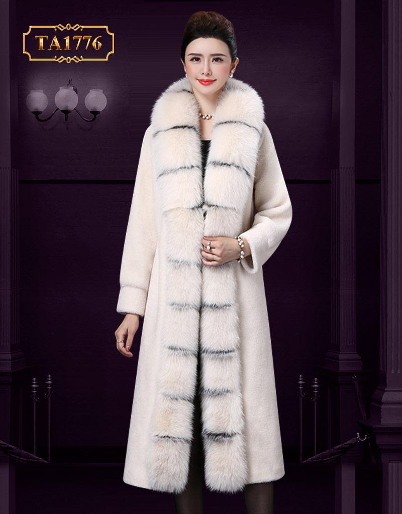 Áo lông thú cao cấp TA1776 phiên bản giới hạn mẫu mới 2019 (Màu trắng)