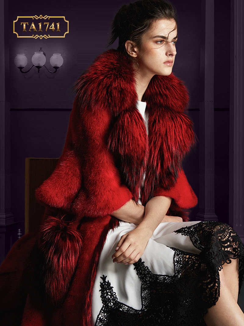 Áo khoác lông TA1741 mới 2019 từ chất liệu lông thú thời thượng TA1741