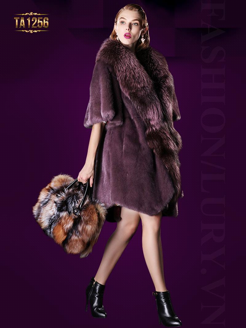 Kiểu áo khoác lông cao cấp thể hiện đẳng cấp, sự sang trọng nhất của quý cô TA1256