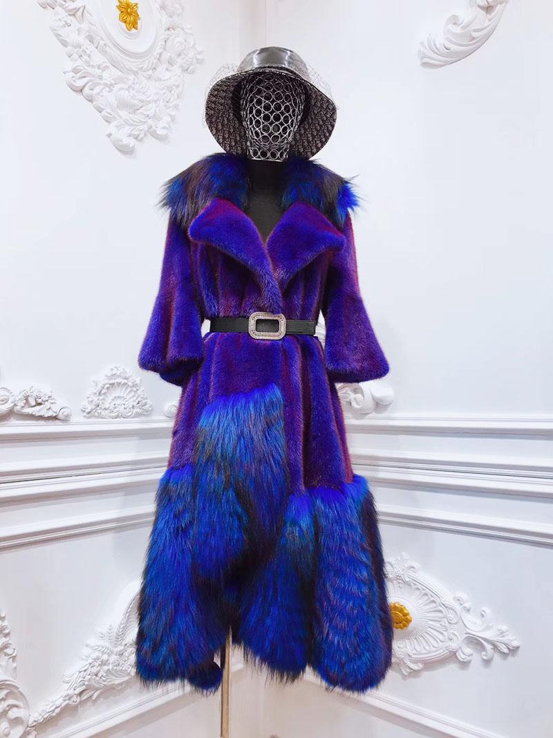 Áo khoác lông tự nhiên dáng dài thiết kế độc lạ A14
