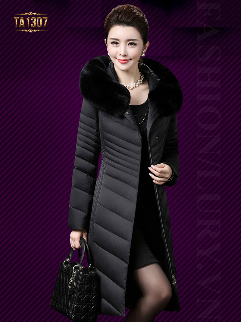 Áo phao nữ dáng dài hàng việt nữ xuất khẩu