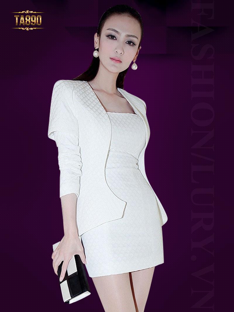 Áo vest nữ Hàn Quốc tay phối ghép cao cấp TA890
