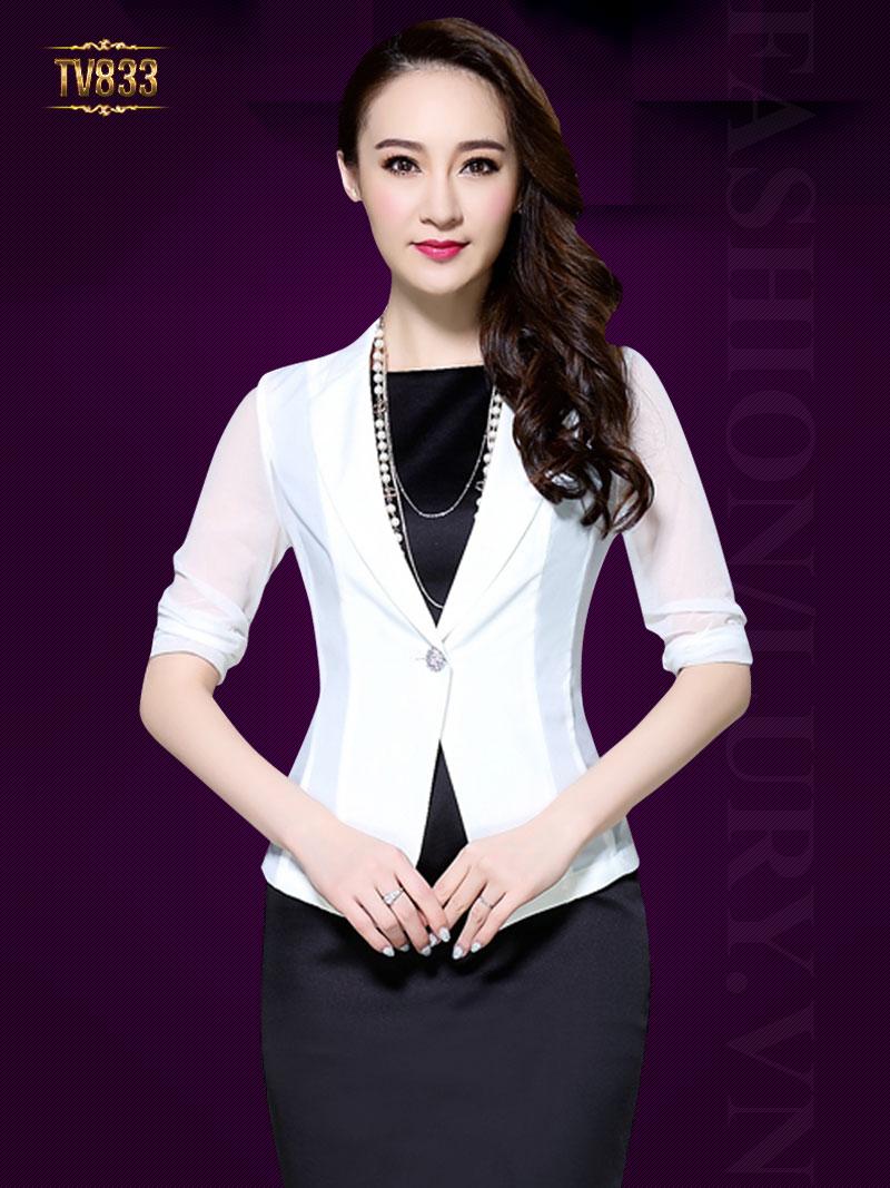 Áo vest nữ Hàn Quốc tay voan thời trang TV833