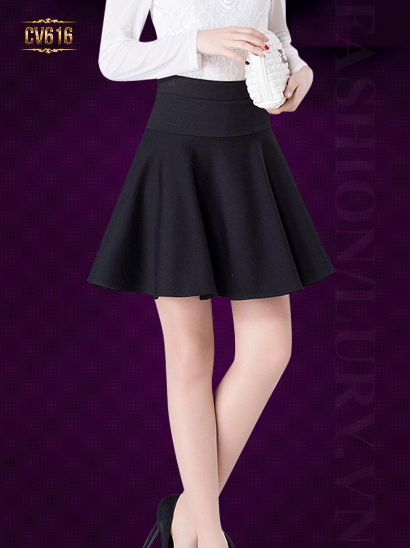 Chân váy đen chữ A đẹp CV616