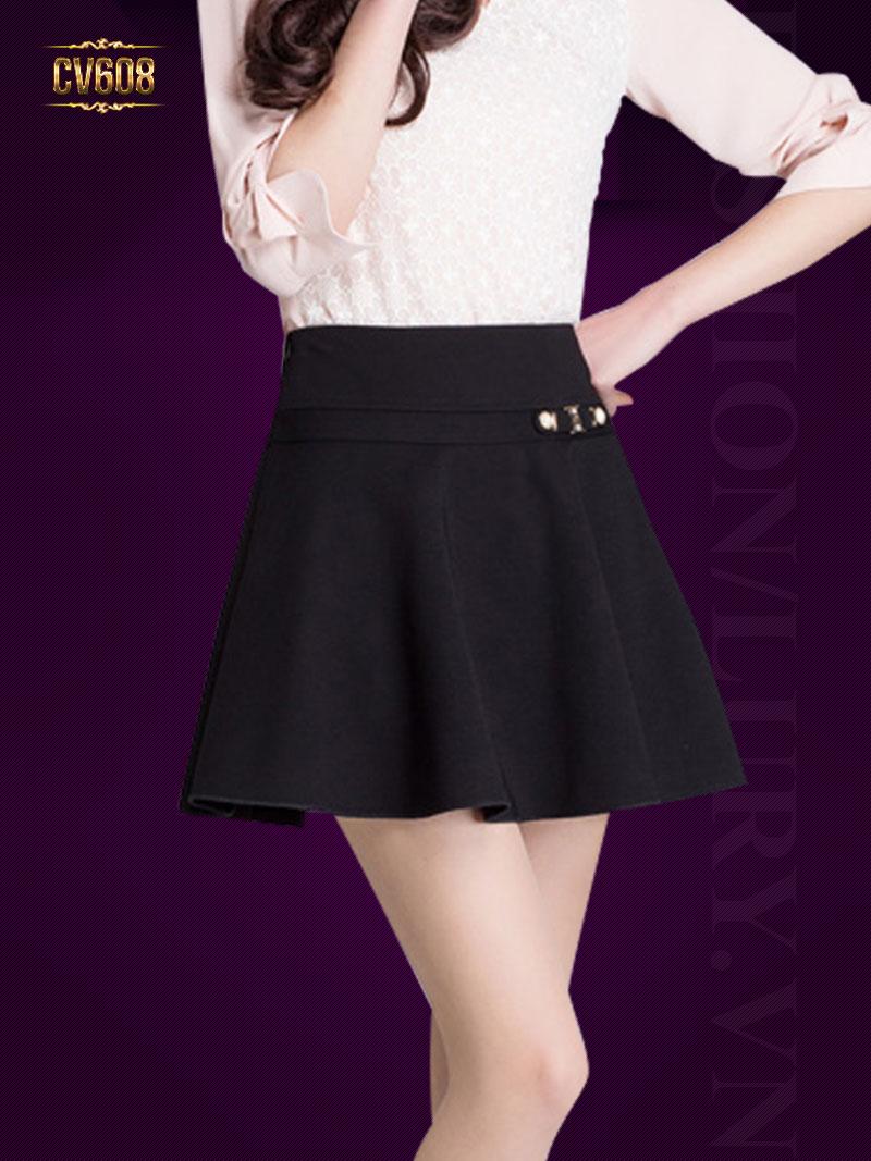 Chân váy đen Hàn Quốc cao cấp CV608