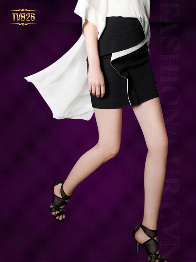 Chân váy thiết kế cao cấp phối bèo thân trước TV826