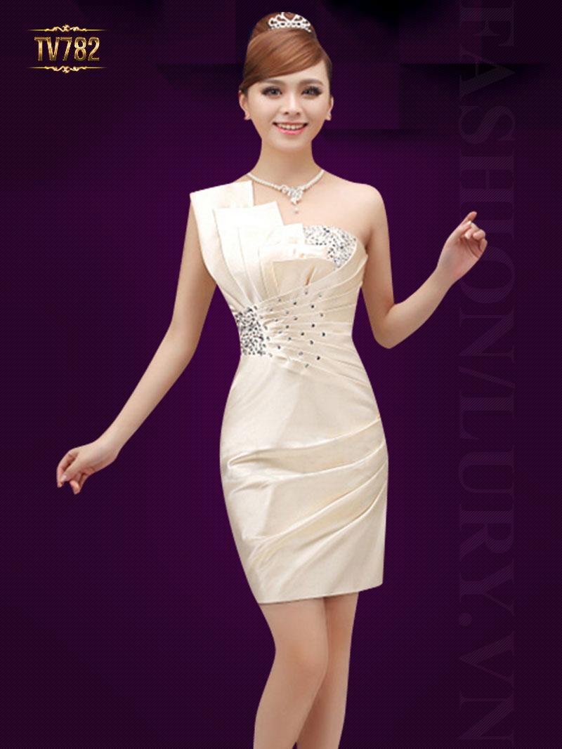Váy đầm dạ hội Hàn Quốc ngắn sang trọng
