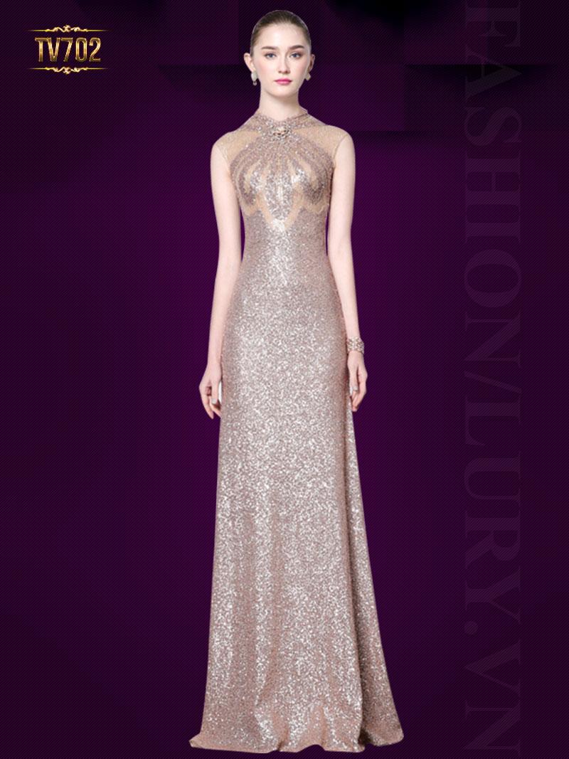 Đầm dạ hội thiết kế ánh kim cao cấp TV702
