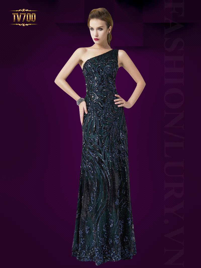 Đầm dạ hội lệch vai quyến rũ dành cho các nàng