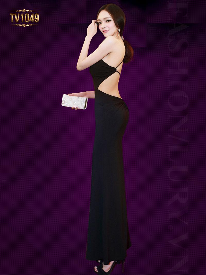 Đầm đen body lệch vai quyến rũ