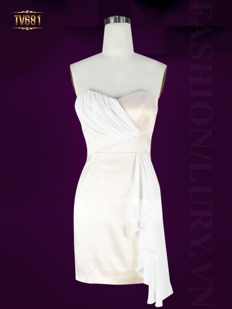 Đầm ôm body cúp ngực nhún vạt chéo quyến rũ TV681