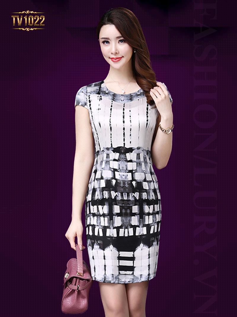 Váy suông họa tiết cao cấp TV1022